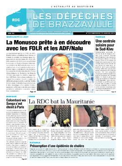 Les Dépêches de Brazzaville : Édition kinshasa du 15 janvier 2014