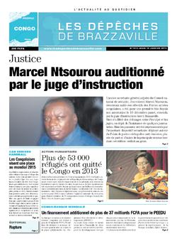 Les Dépêches de Brazzaville : Édition brazzaville du 16 janvier 2014