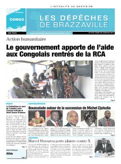 Les Dépêches de Brazzaville : Édition brazzaville du 20 janvier 2014