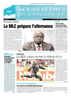 Les Dépêches de Brazzaville : Édition kinshasa du 20 janvier 2014