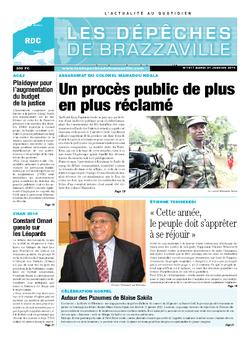 Les Dépêches de Brazzaville : Édition kinshasa du 21 janvier 2014