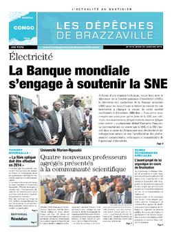 Les Dépêches de Brazzaville : Édition brazzaville du 23 janvier 2014