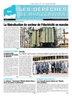 Les Dépêches de Brazzaville : Édition kinshasa du 23 janvier 2014