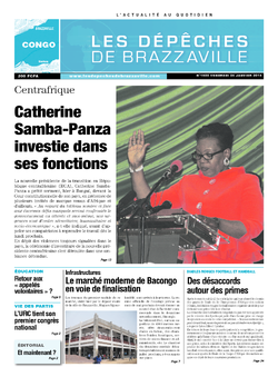 Les Dépêches de Brazzaville : Édition brazzaville du 24 janvier 2014