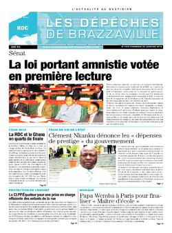 Les Dépêches de Brazzaville : Édition kinshasa du 24 janvier 2014