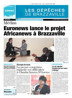 Les Dépêches de Brazzaville : Édition brazzaville du 27 janvier 2014