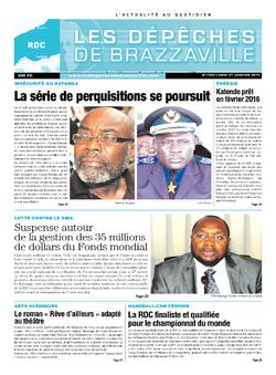 Les Dépêches de Brazzaville : Édition kinshasa du 27 janvier 2014
