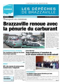 Les Dépêches de Brazzaville : Édition brazzaville du 28 janvier 2014