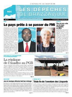 Les Dépêches de Brazzaville : Édition kinshasa du 28 janvier 2014