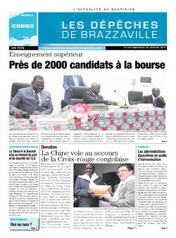 Les Dépêches de Brazzaville : Édition brazzaville du 29 janvier 2014