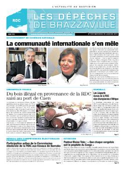 Les Dépêches de Brazzaville : Édition kinshasa du 29 janvier 2014