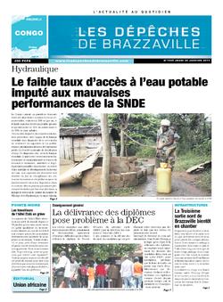 Les Dépêches de Brazzaville : Édition brazzaville du 30 janvier 2014