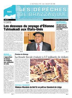 Les Dépêches de Brazzaville : Édition kinshasa du 03 février 2014