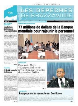 Les Dépêches de Brazzaville : Édition kinshasa du 04 février 2014