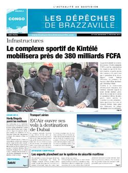 Les Dépêches de Brazzaville : Édition brazzaville du 05 février 2014