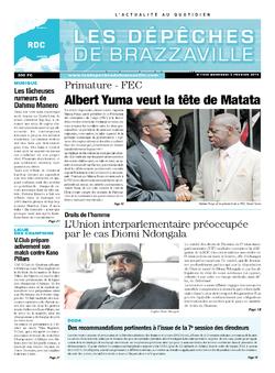 Les Dépêches de Brazzaville : Édition kinshasa du 05 février 2014
