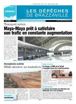 Les Dépêches de Brazzaville : Édition brazzaville du 06 février 2014