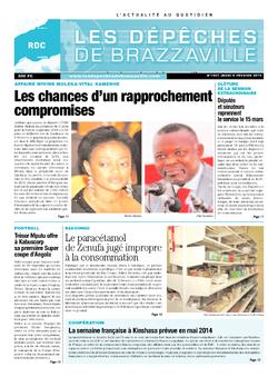 Les Dépêches de Brazzaville : Édition kinshasa du 06 février 2014