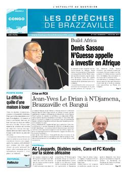 Les Dépêches de Brazzaville : Édition brazzaville du 07 février 2014