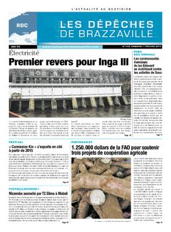 Les Dépêches de Brazzaville : Édition kinshasa du 07 février 2014