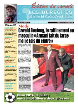 Les Dépêches de Brazzaville : Édition du 6e jour du 08 février 2014
