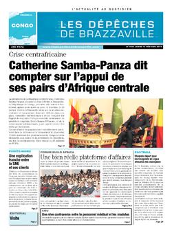 Les Dépêches de Brazzaville : Édition brazzaville du 10 février 2014