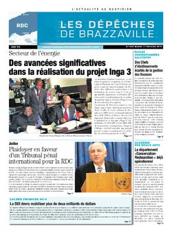 Les Dépêches de Brazzaville : Édition kinshasa du 11 février 2014