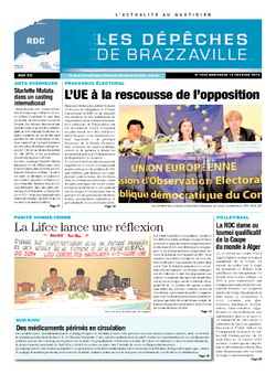 Les Dépêches de Brazzaville : Édition kinshasa du 12 février 2014