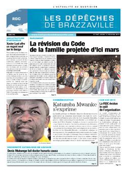 Les Dépêches de Brazzaville : Édition kinshasa du 13 février 2014