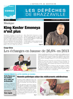 Les Dépêches de Brazzaville : Édition brazzaville du 14 février 2014