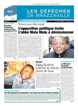 Les Dépêches de Brazzaville : Édition kinshasa du 14 février 2014