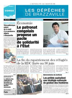 Les Dépêches de Brazzaville : Édition brazzaville du 17 février 2014