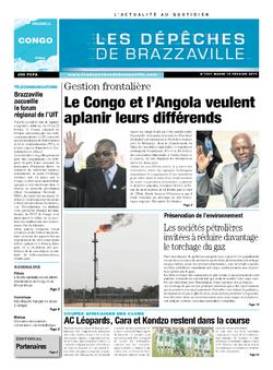 Les Dépêches de Brazzaville : Édition brazzaville du 18 février 2014