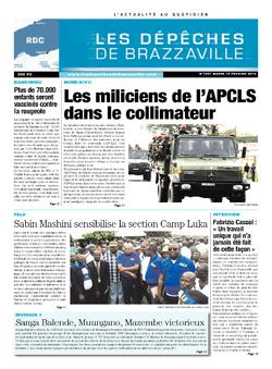 Les Dépêches de Brazzaville : Édition kinshasa du 18 février 2014