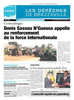 Les Dépêches de Brazzaville : Édition brazzaville du 19 février 2014