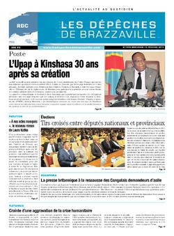 Les Dépêches de Brazzaville : Édition kinshasa du 19 février 2014