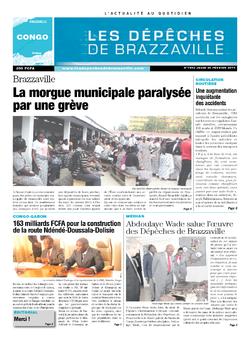 Les Dépêches de Brazzaville : Édition brazzaville du 20 février 2014