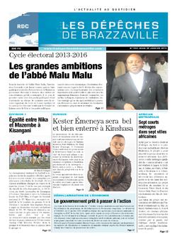 Les Dépêches de Brazzaville : Édition kinshasa du 20 février 2014