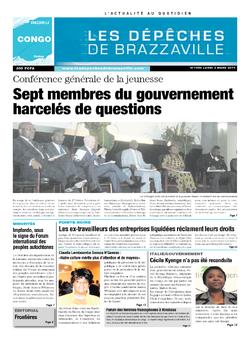 Les Dépêches de Brazzaville : Édition brazzaville du 03 mars 2014