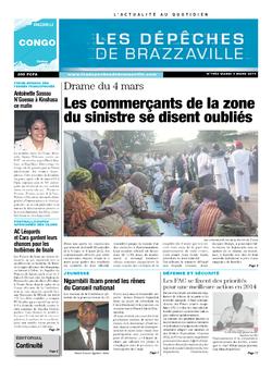 Les Dépêches de Brazzaville : Édition brazzaville du 04 mars 2014