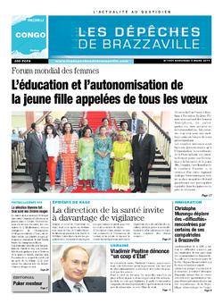 Les Dépêches de Brazzaville : Édition brazzaville du 05 mars 2014