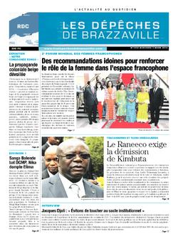 Les Dépêches de Brazzaville : Édition kinshasa du 05 mars 2014