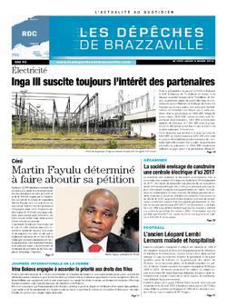Les Dépêches de Brazzaville : Édition kinshasa du 06 mars 2014