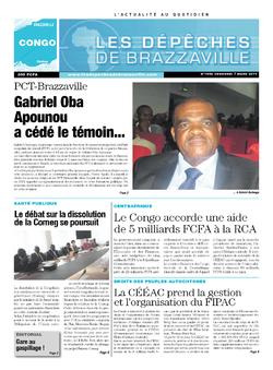 Les Dépêches de Brazzaville : Édition brazzaville du 07 mars 2014