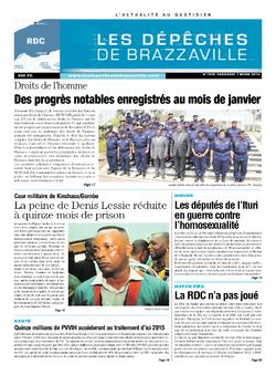 Les Dépêches de Brazzaville : Édition kinshasa du 07 mars 2014