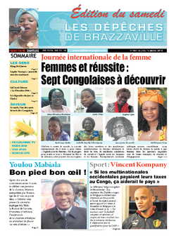 Les Dépêches de Brazzaville : Édition du 6e jour du 08 mars 2014