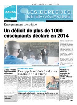 Les Dépêches de Brazzaville : Édition brazzaville du 10 mars 2014