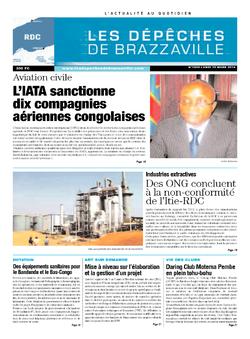 Les Dépêches de Brazzaville : Édition kinshasa du 10 mars 2014