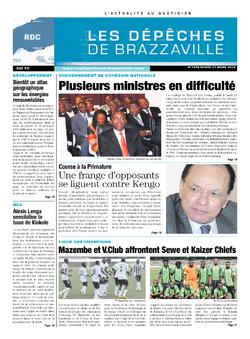 Les Dépêches de Brazzaville : Édition kinshasa du 11 mars 2014