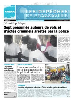 Les Dépêches de Brazzaville : Édition brazzaville du 17 mars 2014